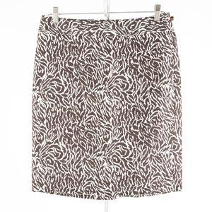 ANN TAYLOR Loft – Brown Zebra Print Skirt – Size 6